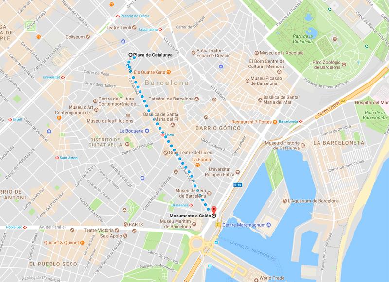Recorriendo la calle más famosa de Barcelona: Las Ramblas