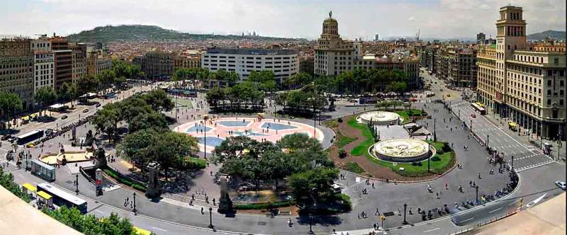 Qué visitar / Zonas de interés / Eixample / Quadrat d'or / Plaça de Catalunya  Plaça de Catalunya